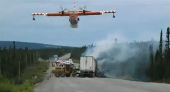 Water Bomber puts out truck fire - p153